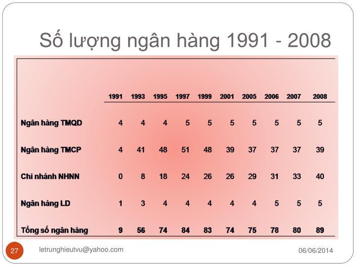Số lượng ngân hàng 1991 - 2008