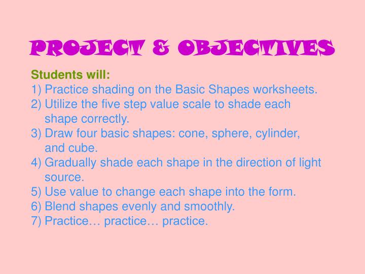 PROJECT & OBJECTIVES