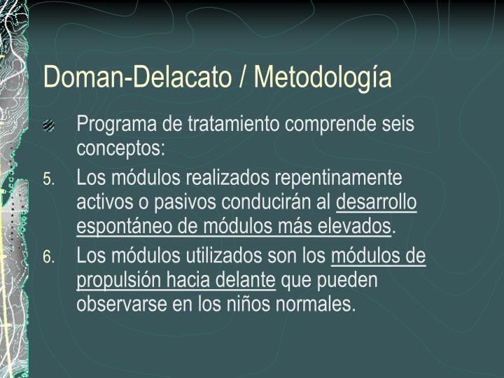Doman-Delacato / Metodología