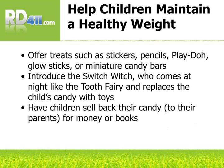 Help Children Maintain a Healthy Weight