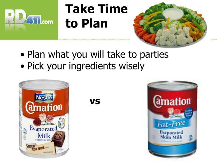 Take Time to Plan