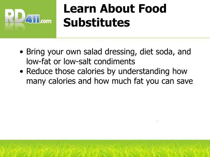 Learn About Food Substitutes