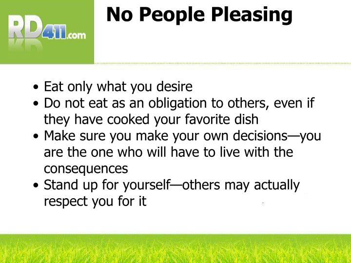 No People Pleasing
