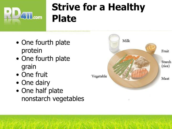 Strive for a Healthy Plate