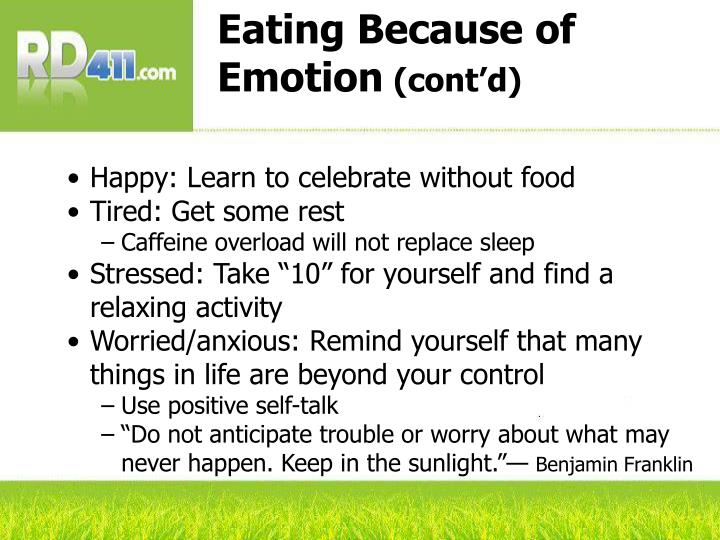 Eating Because of Emotion