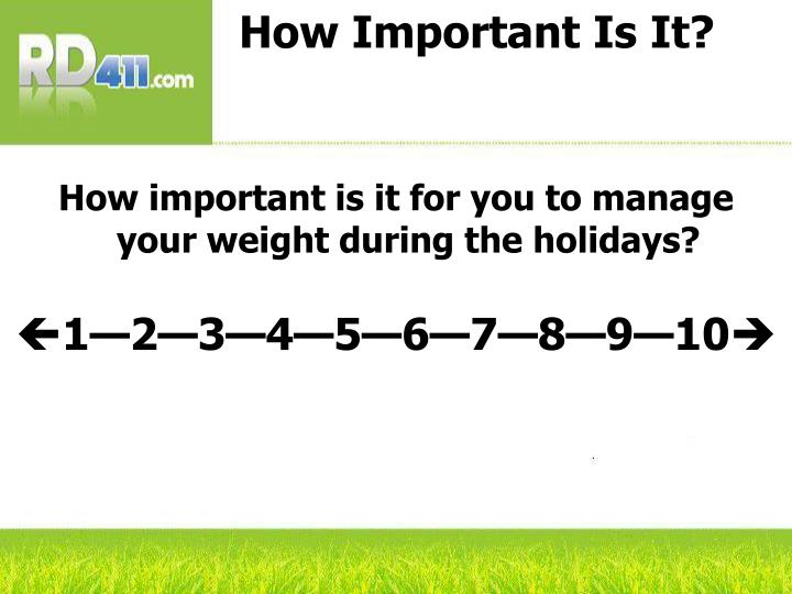 How Important Is It?
