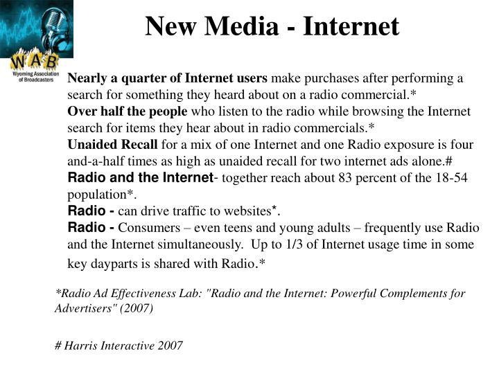 New Media - Internet