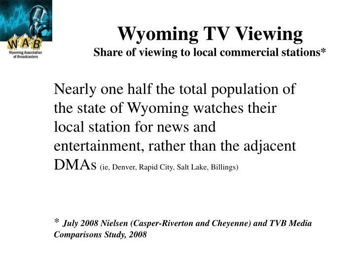 Wyoming TV Viewing
