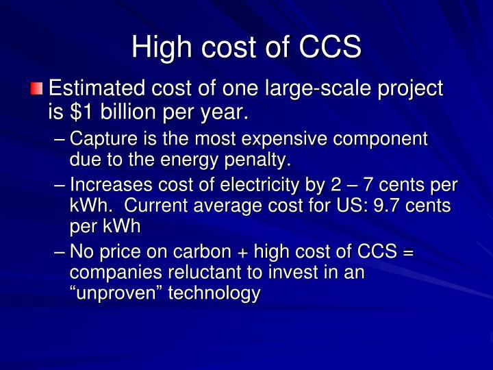 High cost of CCS