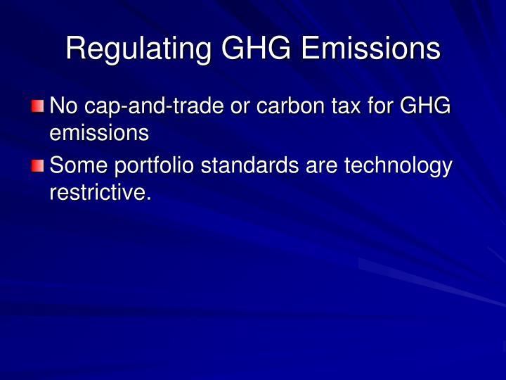 Regulating GHG Emissions