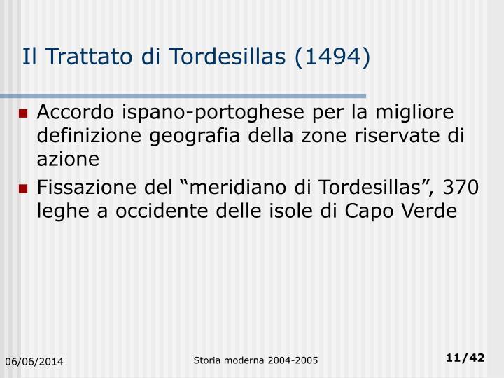 Il Trattato di Tordesillas (1494)