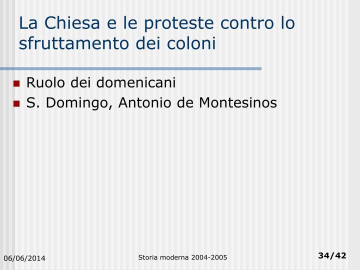 La Chiesa e le proteste contro lo sfruttamento dei coloni