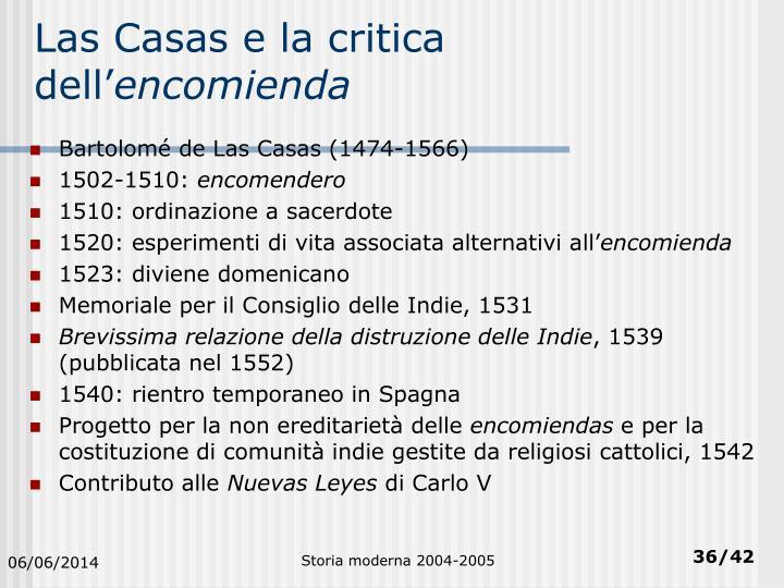 Las Casas e la critica dell'