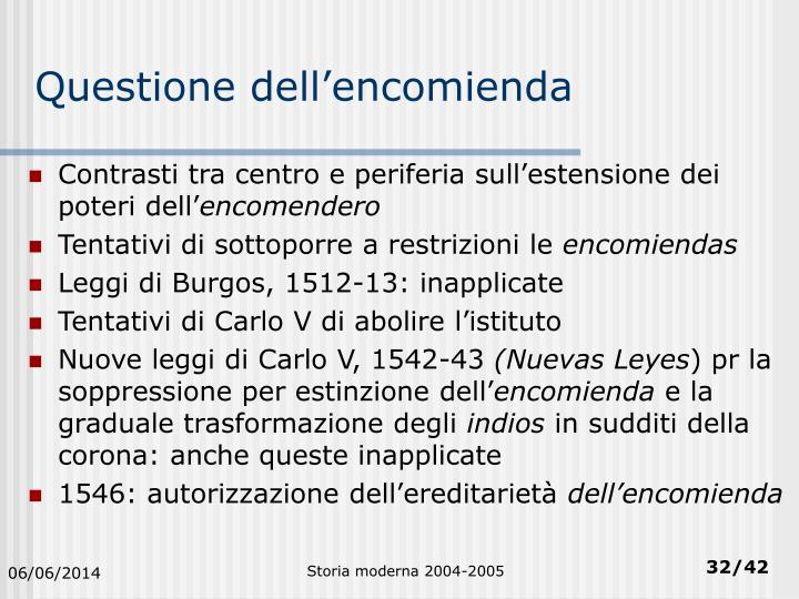 Questione dell'encomienda