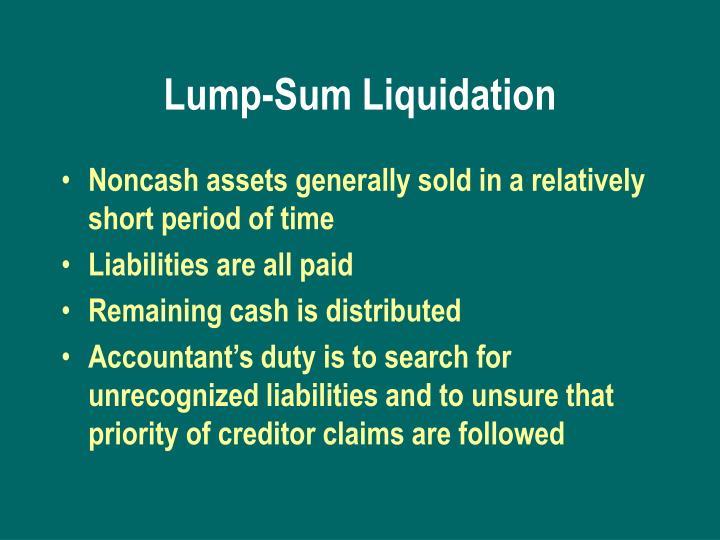 Lump-Sum Liquidation
