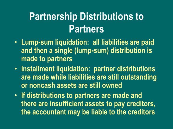 Partnership Distributions to Partners
