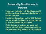 partnership distributions to partners