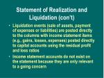 statement of realization and liquidation con t