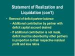 statement of realization and liquidation con t2