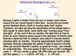 historical background cont