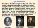 light introduction