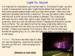 light vs sound