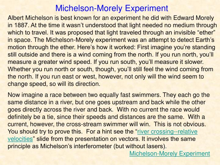 Michelson-Morely Experiment