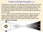parallax and depth perception cont