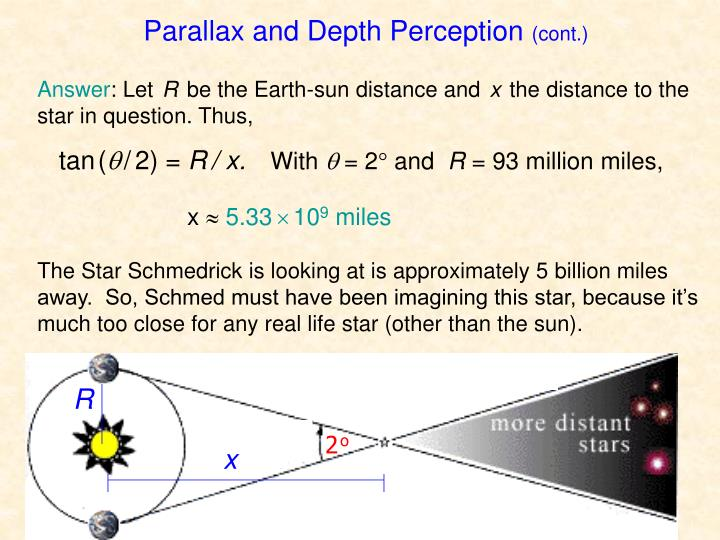 Parallax and Depth Perception