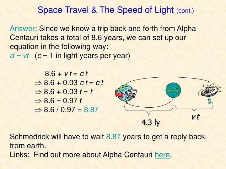 Space Travel & The Speed of Light