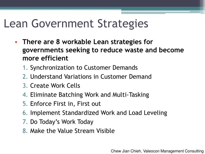 Lean Government Strategies