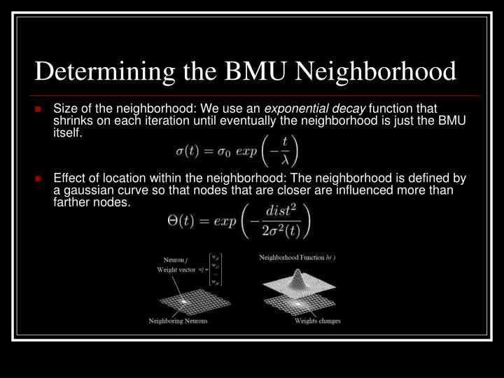 Determining the BMU Neighborhood