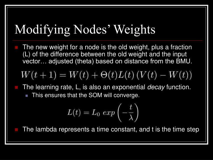 Modifying Nodes' Weights