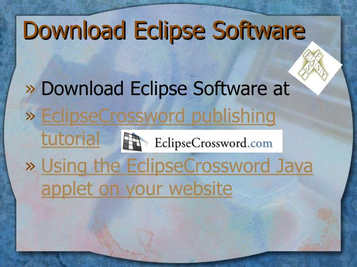 Download Eclipse Software
