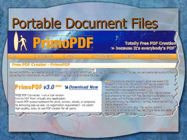 Portable Document Files
