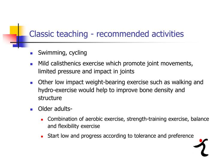Classic teaching - recommended activities