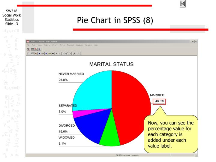 Pie Chart in SPSS (8)