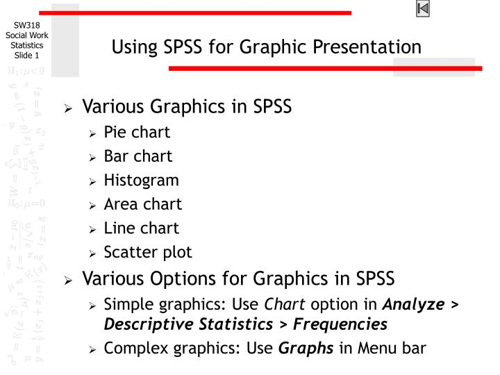 Using spss for graphic presentation