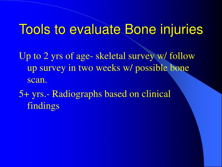 Tools to evaluate Bone injuries