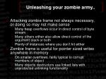 unleashing your zombie army