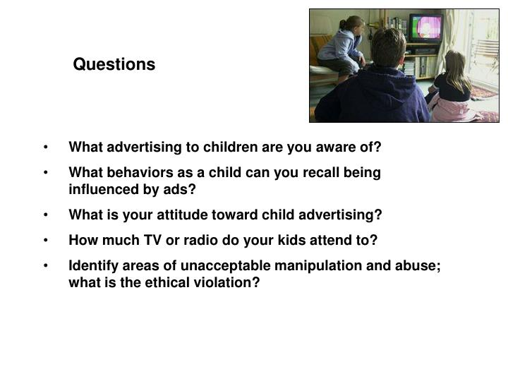 advertising to children ethics essays Media education has been shown to be effective in mitigating some of the negative effects of advertising on children and pediatrics see top articles issues.