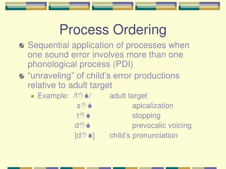 Process Ordering