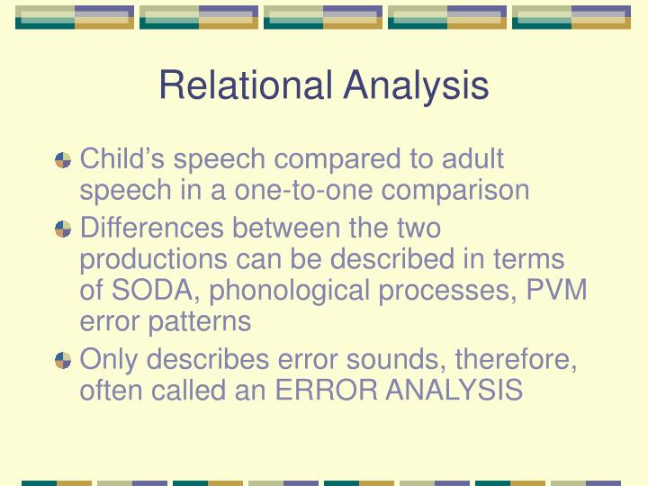 Relational Analysis