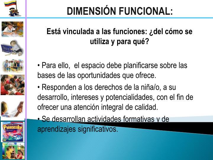 DIMENSIÓN FUNCIONAL: