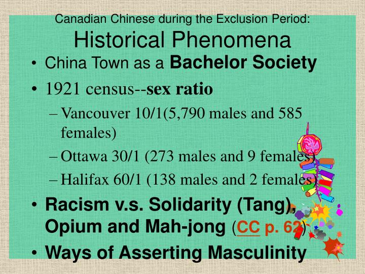 Canadian Chinese during the Exclusion Period: