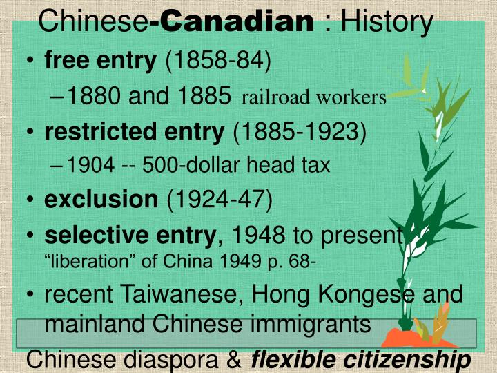 Chinese canadian history