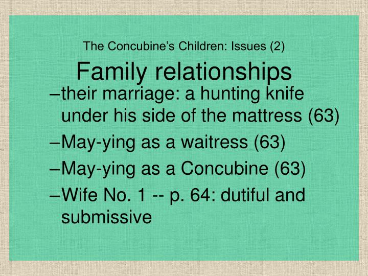 their marriage: a hunting knife under his side of the mattress (63)