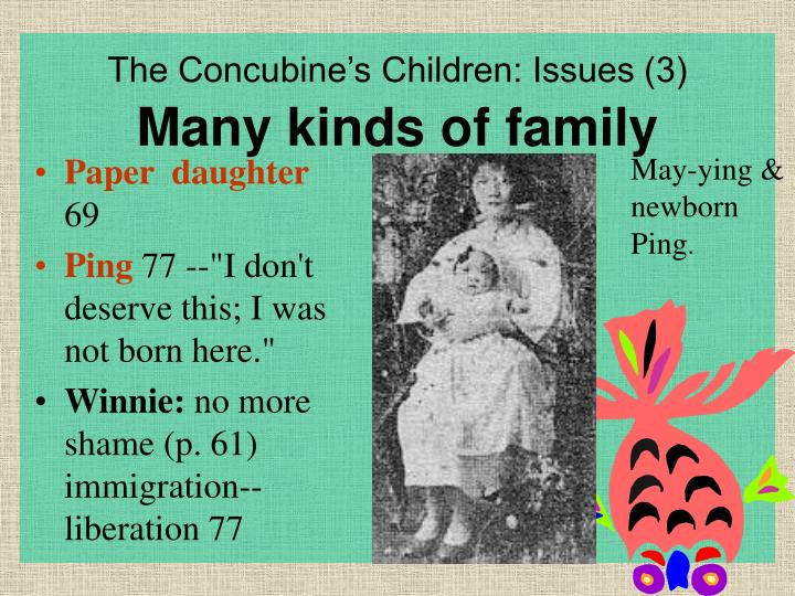 The Concubine's Children: Issues (3)