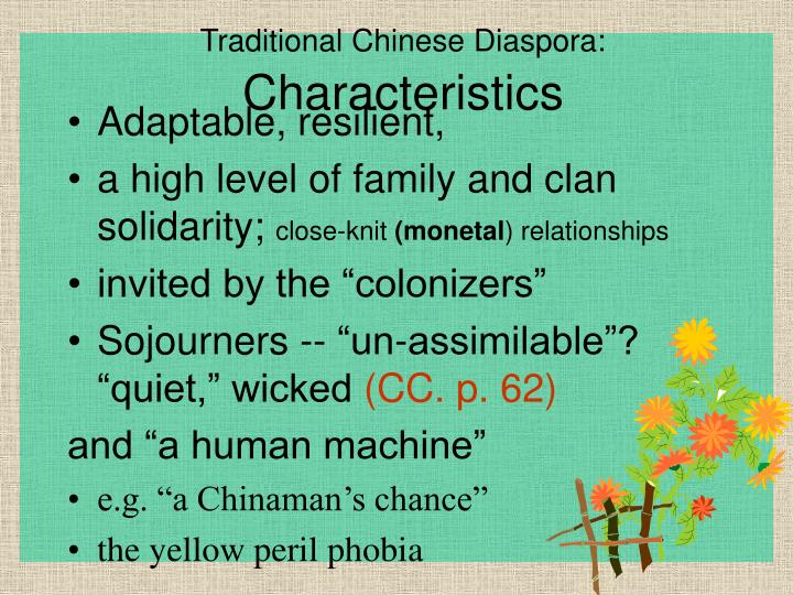Traditional Chinese Diaspora: