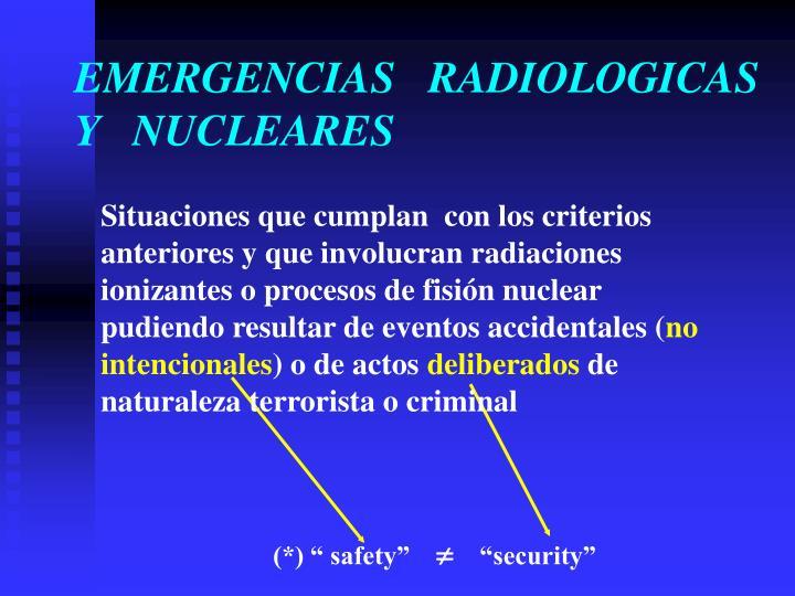 EMERGENCIAS   RADIOLOGICAS